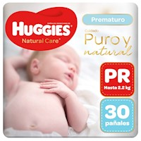 Pañal Huggies Natural Care Prematuro 30 unid