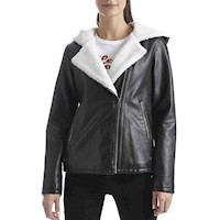 JACKET LEVIS WOMAN SHERPA LINED MOTO WITH HOOD