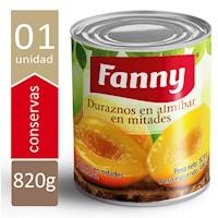 FANNY DURAZNOS EN MITADES 820 GR