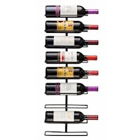 Rack - Soporte de pared para 9 botellas vino MIKASASTORE