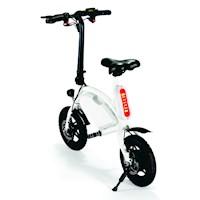Bicicleta Eléctrica Plegable Extructura Aluminio 3 Velocidades Blanco