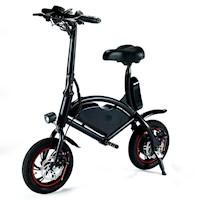 Bicicleta Eléctrica Plegable Extructura Aluminio 3 Velocidades - Negro