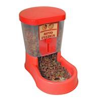 Comedero Dosificador Alimento 7 x 7.5 x 27.5 cm-Rojo