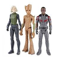 Figura de acción Avengers- Combo Infarto - Groot/ Falcon/Widow