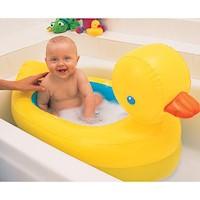 Bañera Inflable Pato Con Indicador De Calor Munchkin B32201 Amarilla