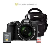 Nikon Oficial B600 Long Zoom, 64GB, batería adicional y estuche