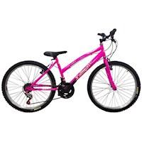 Bicicleta Todoterreno Dama Rin 24 18 Cambios Tipo Moto- Rosado