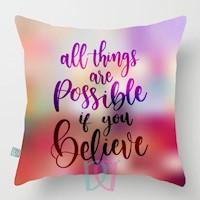 Cojín decorativo Believe