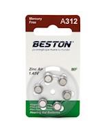 Baterías Audífonos Para Sordera Beston BST-A312 1.45V