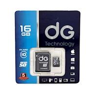 Memoria Micro SD Clase 10 16GB Con Adaptador DG Tecnology