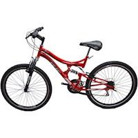 Bicicleta Gw Dione 26 F/disco Shimano Tipo Moto - Rojo