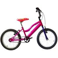 Bicicleta Infantil Niña Rin 16 Con Auxiliares - Rosada