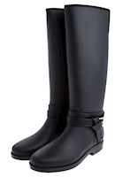 Bottplie - Botas De Lluvia Impermeable Golden Buckle Negro