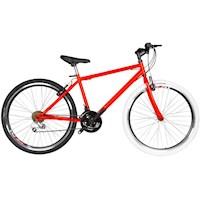 Bicicleta Todoterreno Urbana Rin 26 D/Pared 18 Cambios Tipo Moto  - Naranja