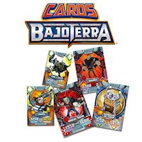 PAQUETE TRADING CARDS BAJOTERRA
