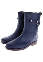 Botas De Lluvia Mediana Impermeable Top Buckle  Azul