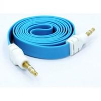 Cable De Audio Plano Auxiliar De 3|5 Mm 3 Mts Azul