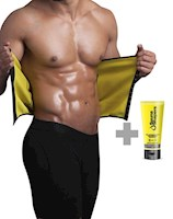 Sauna Shapers - Faja Cinturilla Broches Hombre + Gel 3 en 1