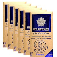 Chocolate Bitter. Pack de 6 tabletas de 70g cada una. Sugar Free.