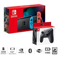 Consola Nintendo Switch 2019 Bateria Extendida + Mando Pro Controller