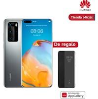 Huawei P40 Pro 256gb Plata + Smart Flip Cover