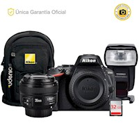 Nikon D5600 Kit YN 35 f2, flash YN565EX III y mochila