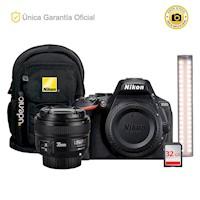 Nikon Oficial D5600 Kit YN35 f2 LED y Barra led YN60 Pro