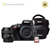 Nikon Oficial D5600 Kit YN50 f1.8 y estuche