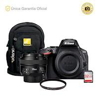 Nikon Oficial D5600 Kit YN50 f1.8, filtro y mochila