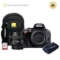 Nikon Oficial D5600 Kit YN50 f1.8, GPS y Mochila