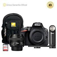 Nikon Oficial D5600 Kit YN50 f1.8, led LD-1000 y mochila