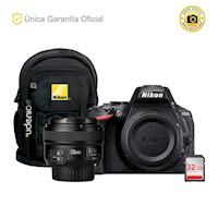 Nikon Oficial D5600 Kit YN50 f1.8 y mochila