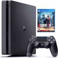 Consola PS4 Slim 1 TB + Resident Evil 2