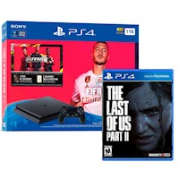 Sony Consola PS4 Bundle Fifa 20 Slim 1TB+ + The last of us 2