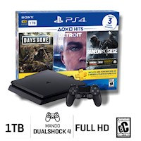 Sony Consola PS4 Hits Bundle 5 Slim 1TB HDR