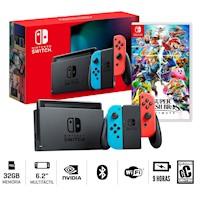 Nueva Consola Nintendo Switch 2019 + Super Smash  Bros
