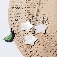 Set Collar Rolo + Aretes Estrella Nácar