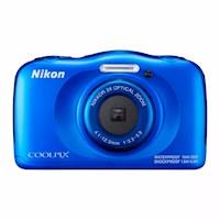 Nikon Cámara Sumergible Coolpix W100 Azul + Memoria 8gb
