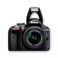 Nikon Cámara D3300 +18-55mm +50mm F/1.8g +sd 8gb +maletín