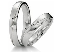 Aros de Matrimonio de Plata- 12