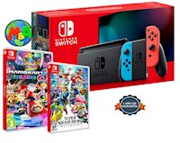 Nintendo Swich 2019 Bateria Extendida + MARIO KART + SUPER SMASH