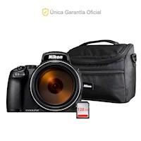Nikon Oficial P1000 Super Zoom, 128GB y bolso