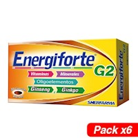 ENERGIFORTE-G2 X 30 CAPSULAS BLANDAS PACK X6