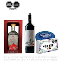 Pack Machu Picchu Vino + Pisco + Chocolate + Galletas