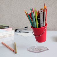 Portalápices para Escritorio Rojo