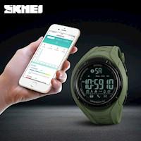 Reloj Skmei 1316 Bluetooth Deporte Cronómetro Pasos Calorías Sms Llamadas Verde