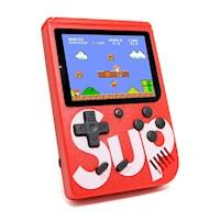 Mini Consola Retro Portátil SUP GAME 400 Juegos en 1 - Rojo