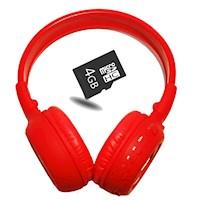 Kit Audifonos Cratos Bluetooth B570C - Rojo + Micro SD 4GB