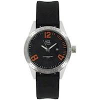 Reloj Yess Hombre 006456A Negro Y Naranja