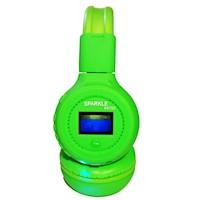 Audífono DJ N65 Bluetooth (FM, Micro SD, Pantalla, Micrófono) - Verde Limón
